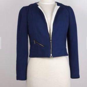 Judith and Charles sz 8 blue zip jacket